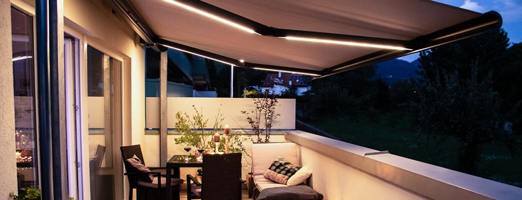 Markisolette mit LED für Balkon