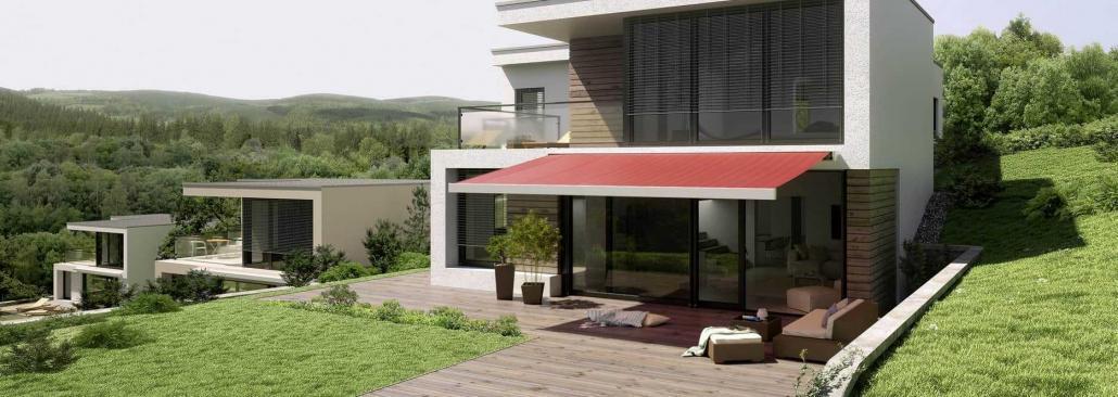 Terrassenmarkise Hanglage